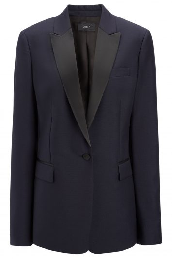 Click to Buy Joseph Wool Mohair Hampsted Blue Blazer Jacket