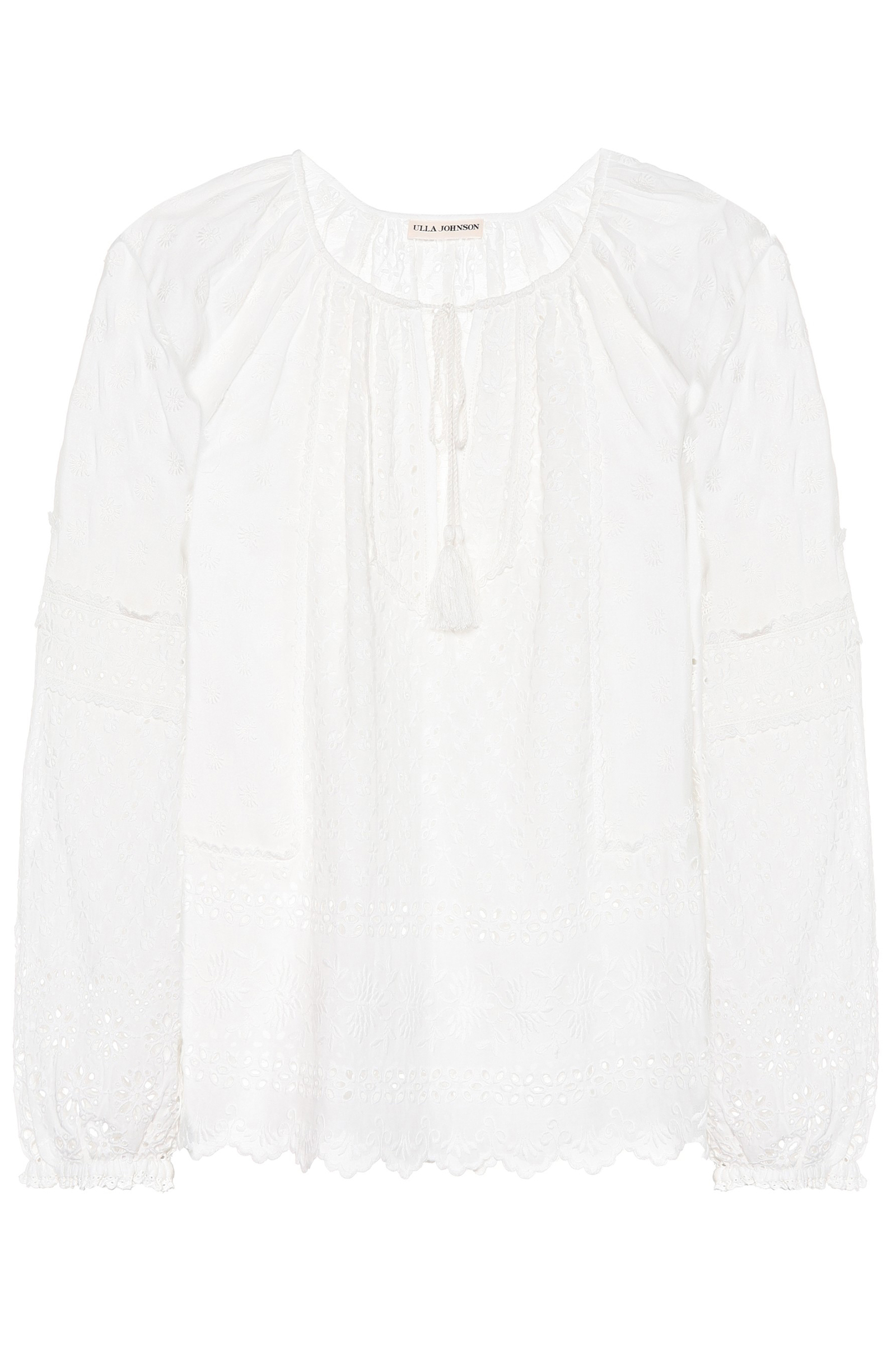 26c77b9a79ea3d Buy Ulla Johnson Cara Cotton Broderie Anglaise Blouse Online