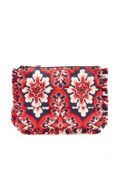 Click to Buy La DoubleJ Editions Floral Print Ruffle Clutch