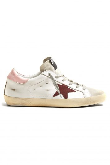 Click to Buy Golden Goose Pink Detail Trainers