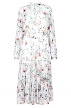Click to Buy Marks & Spencer Floral Long Sleeve Swing Dress