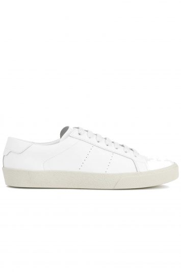 Click to Buy Saint Laurent Leather Low Top Sneakers