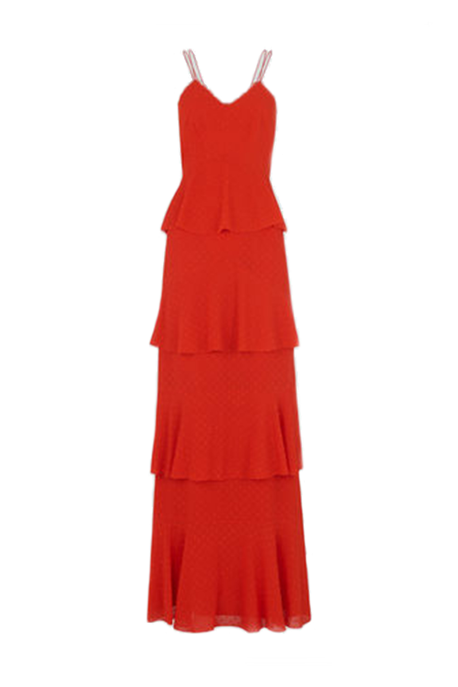 Click to Buy Whistles Tiered Red Dress