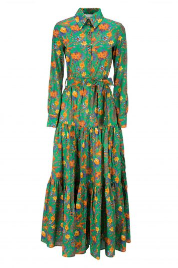 Click to Buy La Doublej Pavone Verde Bellini Dress