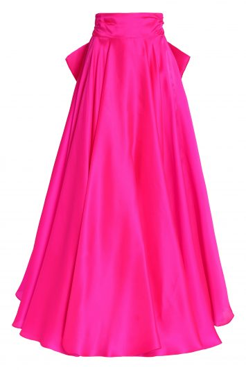 Click to Buy MILLY Bow Detail Fuchsia Skirt