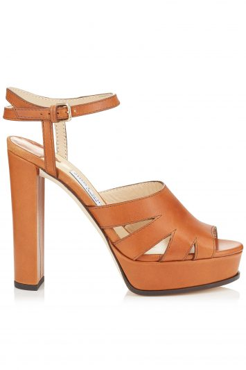 Click to Buy Jimmy Choo Hermione Tan Platform Sandals
