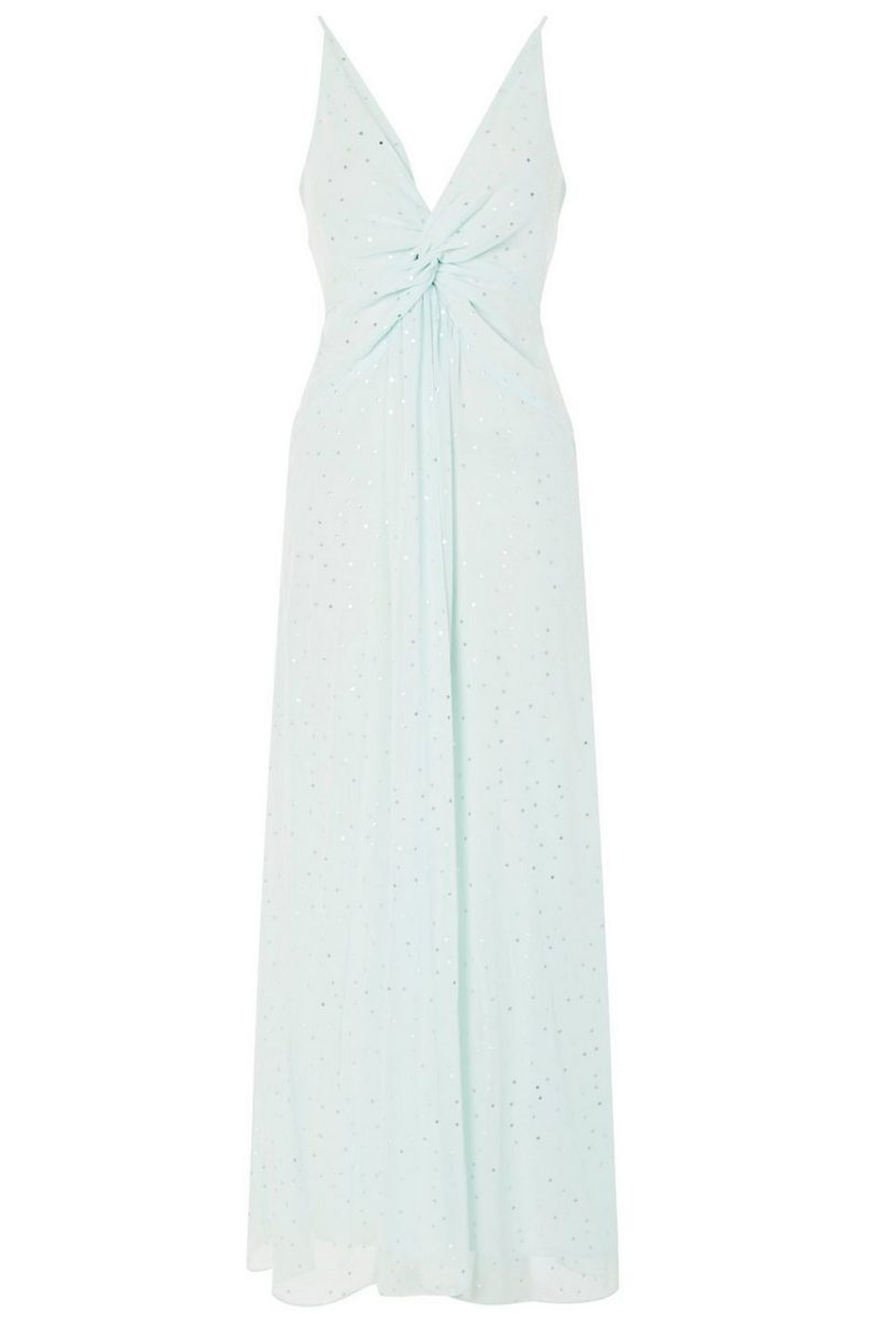 Click to Buy Topshop Spot Foil Maxi Dress