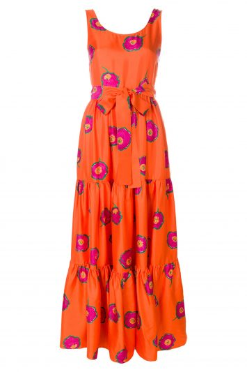 Click to Buy La Doublej Orange Printed Dress