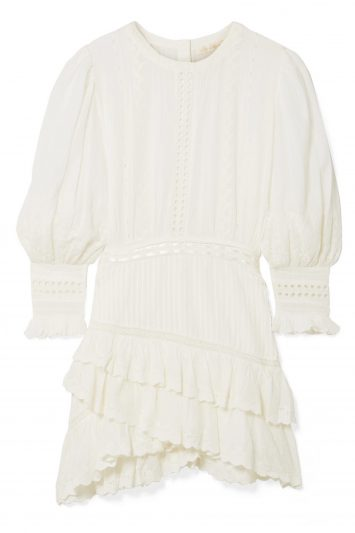 Click to Buy Loveshackfancy Lorelei Tiered Broderie Anglaise Mini Dress