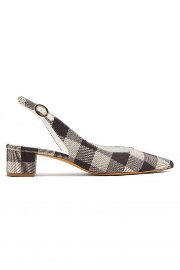 Click to Buy Mansur Gavriel Checkered Woven Shoes