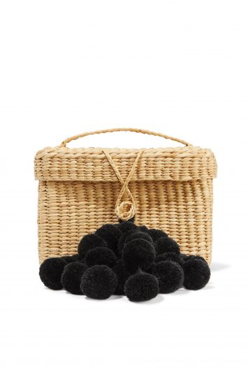 Click to Buy Nannacay Pompom Straw Bag