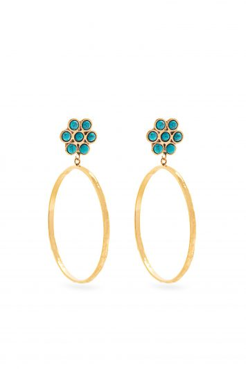 Click to BuySylvia Toledano Flower Gold Plated Earrings