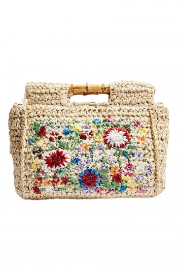 Click to Buy Topshop Embroidered Bamboo Tote Bag