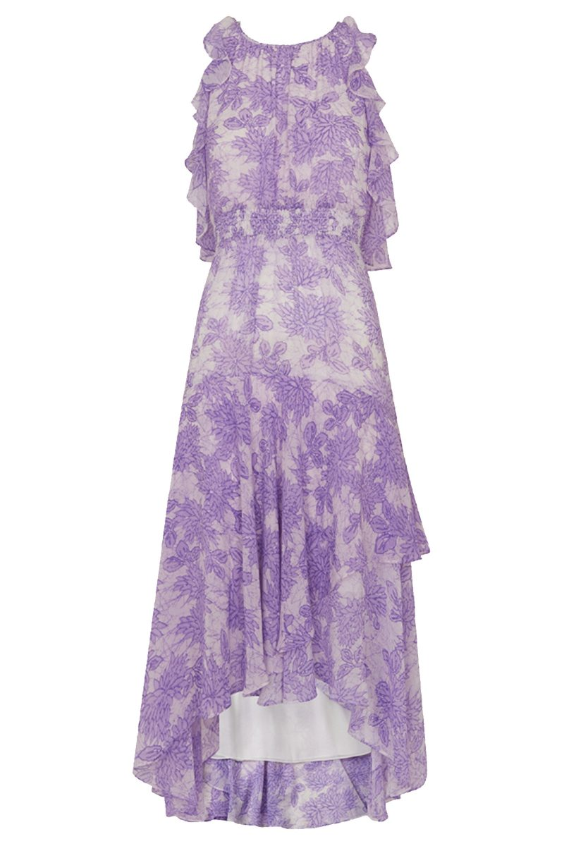 Click to Buy Whistles Purple Ruffled Dress