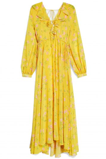 Click to Buy Topshop Yellow Floral Printed Dress