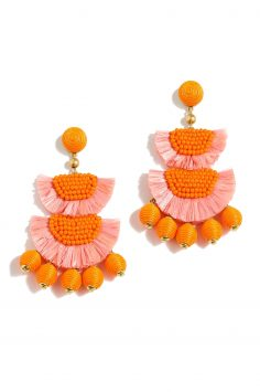Click to Buy J. Crew Bead and Raffia Earrings
