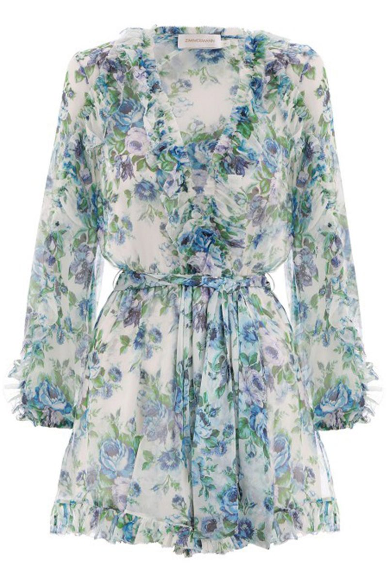 Click to Buy Zimmermann Ruffle Playsuit