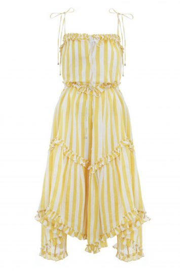 Click to Buy Zimmermann Yellow Striped Dress