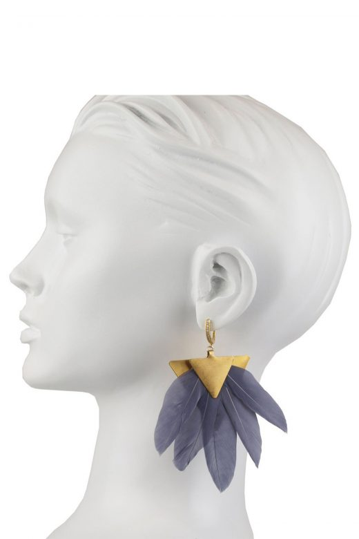 Katerina-Psoma-Grey-Feather-Earrings-Bust