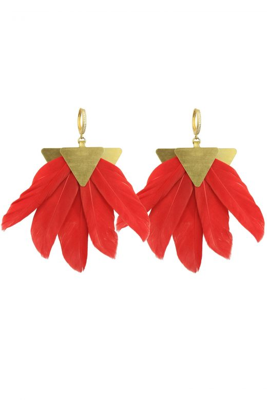 Katerina-Psoma-Red-Feather-Earrings