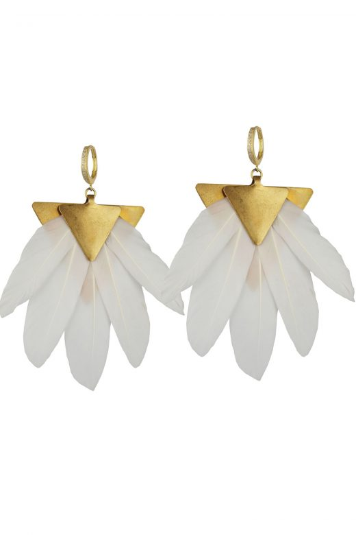 Katerina-Psoma-White-Feather-Earrings
