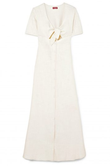 Click to Buy Staud-Cream-Maxi-Dress