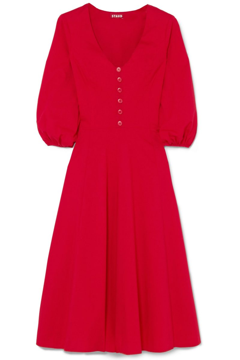 Click to Buy Staud-Long-Sleeve-Dress