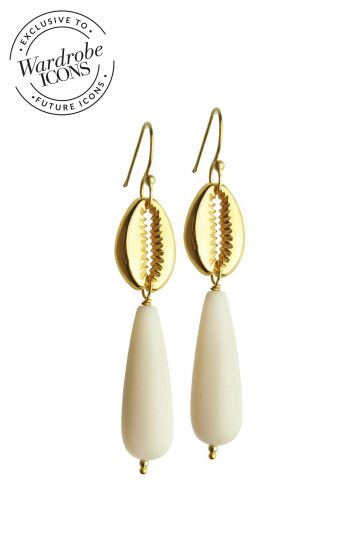 Katerina Psoma beige-shell-earrings