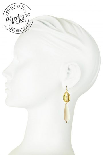Katerina Psoma beige-shell-earrings_model