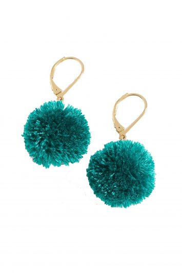 Click to Buy J.-Crew-Green-PomPom-Earrings