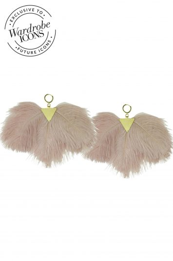 Katerina Psoma pink-ostrich-feather-earring