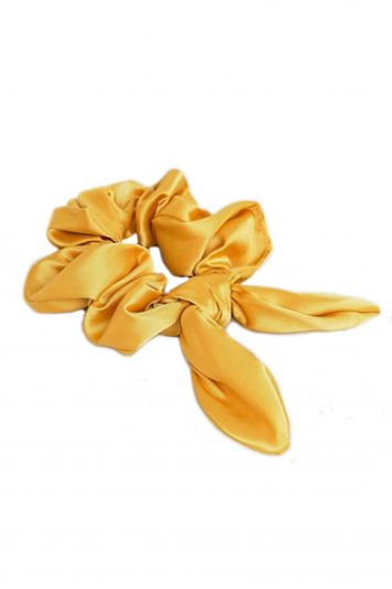 Click to Buy ASOS DESIGN Gold Scrunchie