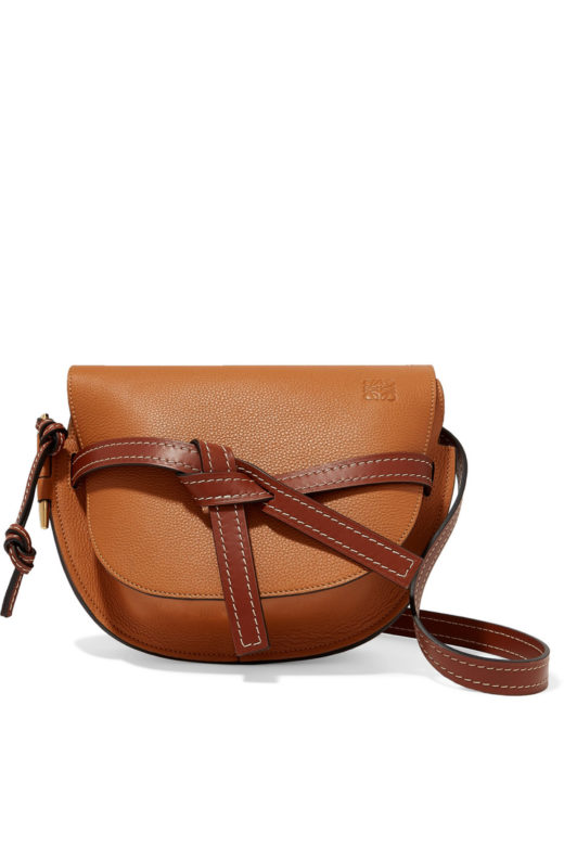 Loewe-Gate-small-textured-leather-shoulder-bag