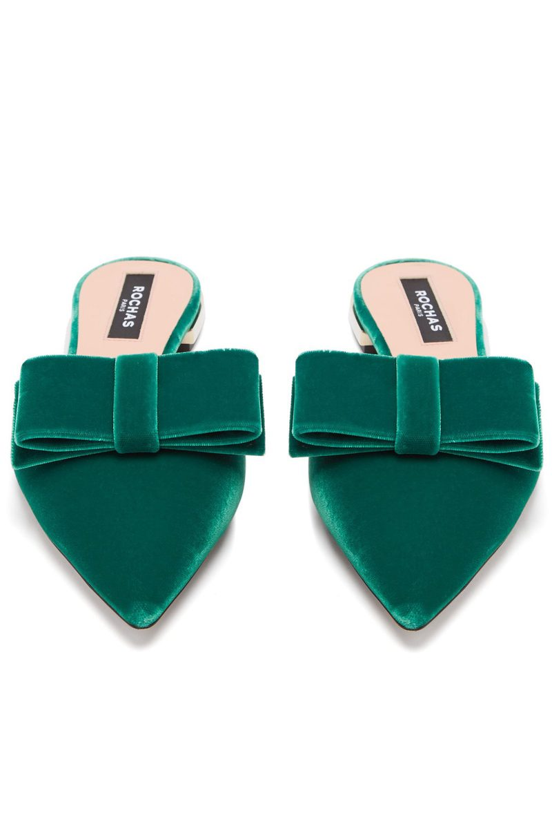 Click to Buy Rochas-Velvet-Flats