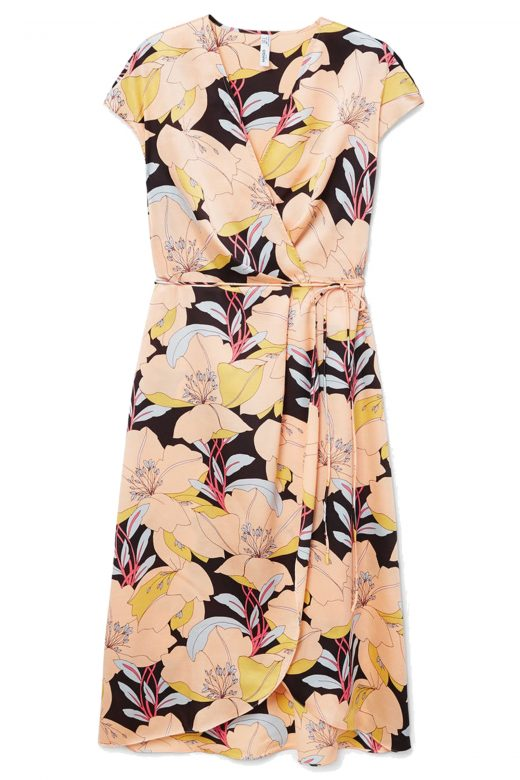 click to buy mango wrap dress