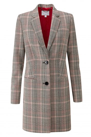 Click to Buy Pure Collection Tartan Coat
