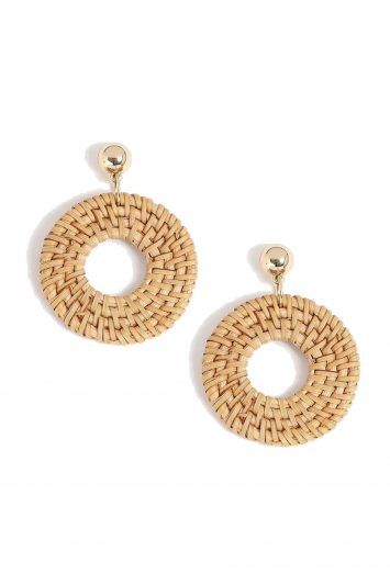 click to buy topshop raffia earrings