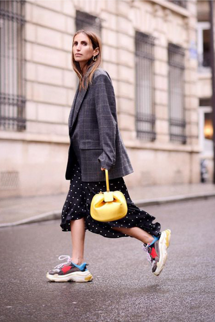 100% authentic e8332 3e15b Why Fashion Editors are wearing Dad Trainers this season