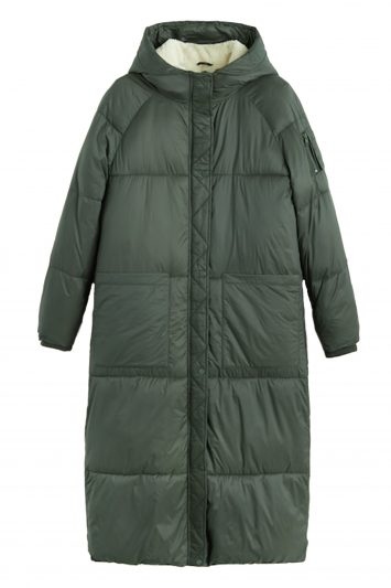 Click to Buy Mango Green Puffer Coat
