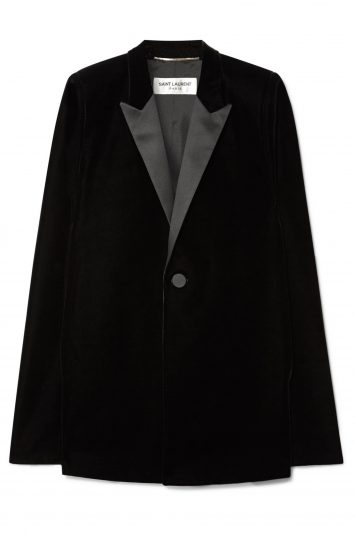 Click to Buy Saint Laurent Velvet Cape