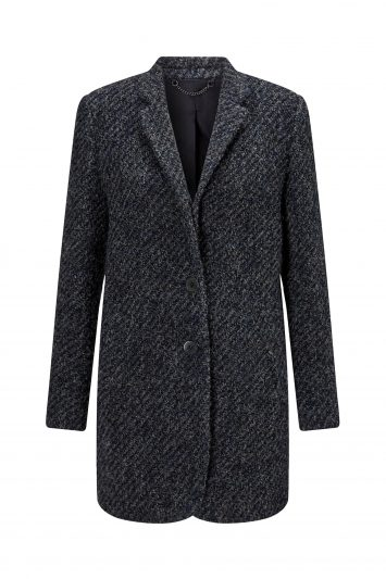 Click to buy Jigsaw Tweed Welt Pocket Coat