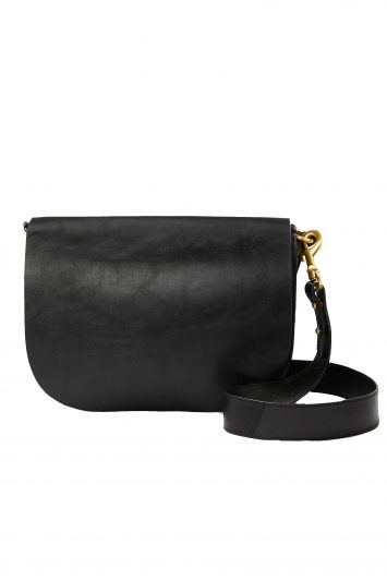 Click to buy John Lewis & Partners Leather Saddle Shoulder Bag