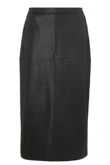 Click to buy John Lewis & Partners Leather Pencil Skirt
