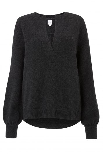 Click to buy John Lewis & Partners Cashmere Notch Neck Sweater