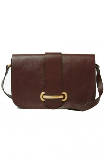 Click to buy John Lewis & Partners Aurora Leather Small Satchel