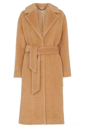 Click to buy Whistles Textured Wool Belted Coat