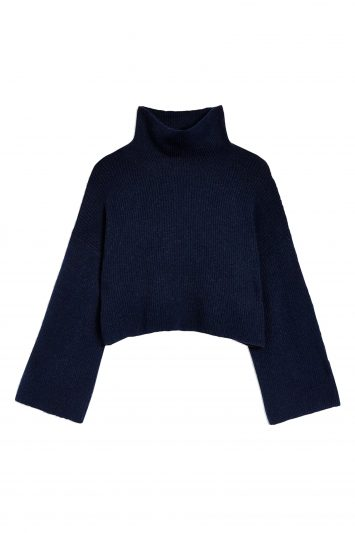 Click to buy Topshop Cropped Roll Neck Jumper