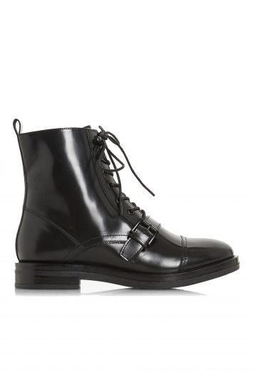 Click to Buy Bertie Point Buckle Lace Up Ankle Boots