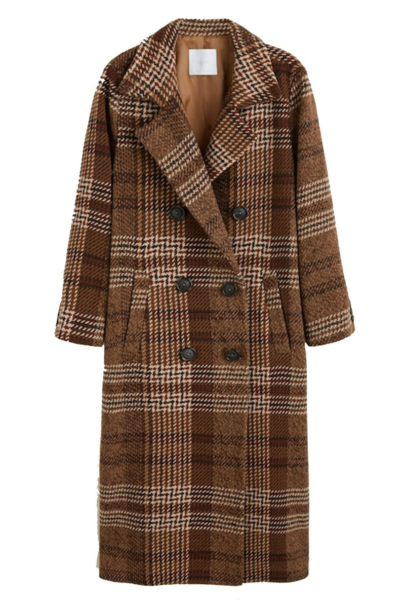Click to Buy Mango Checked Coat