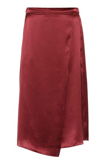 Click to Buy Vince Silk Satin Midi Skirt